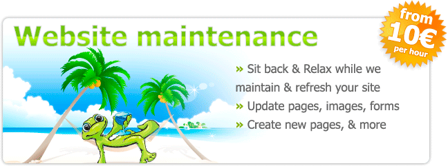 Web site maintenance